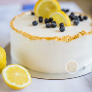 Gluten Free Lemon-blueberries cake