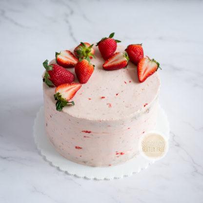 Strawberries Gluten free and dairy cake