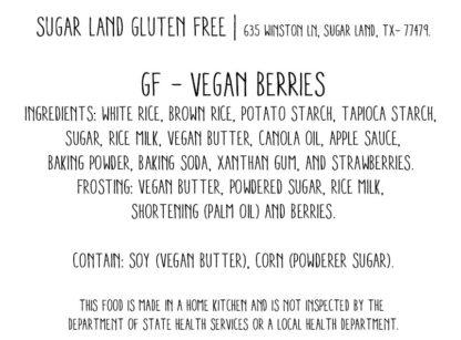 Gluten free vegan berries cake