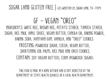 Vegan Gluten Free Oreo cake